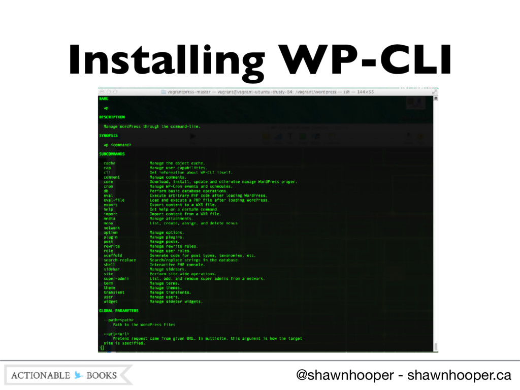 Installing WP-CLI @shawnhooper - shawnhooper.ca