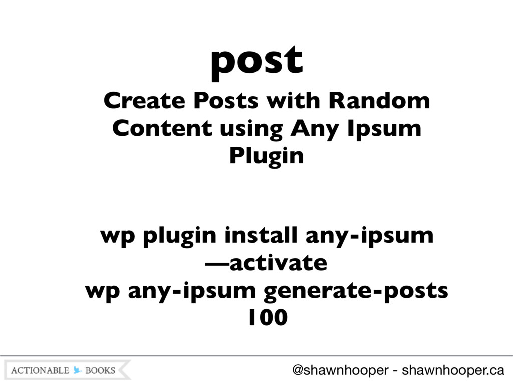 Create Posts with Random Content using Any Ipsu...