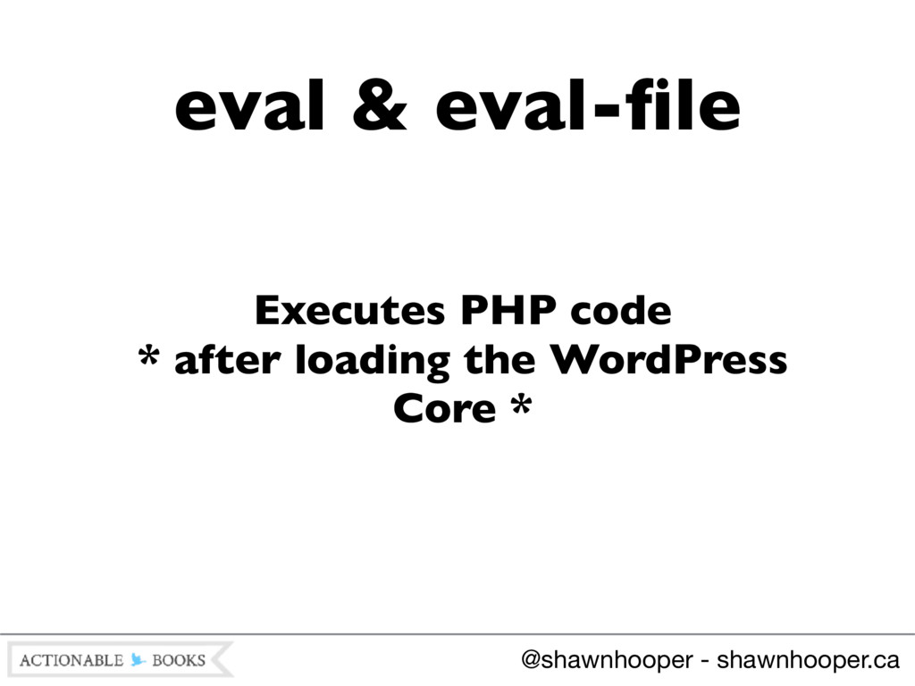 Executes PHP code