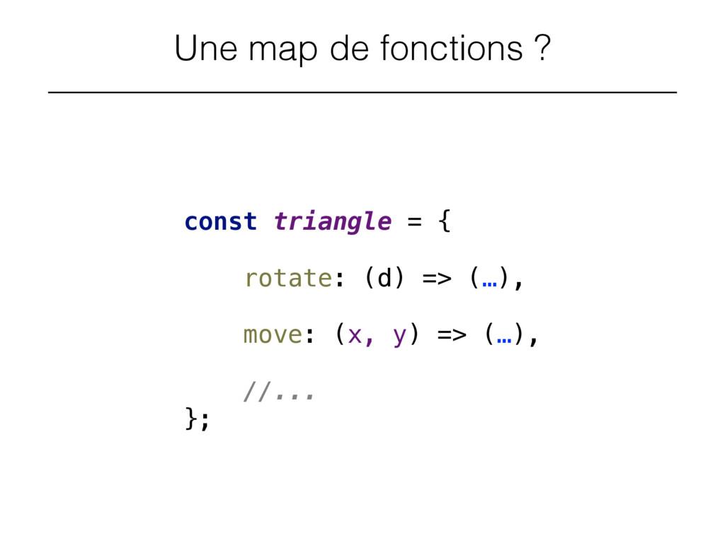 Une map de fonctions ? const triangle = {  ro...