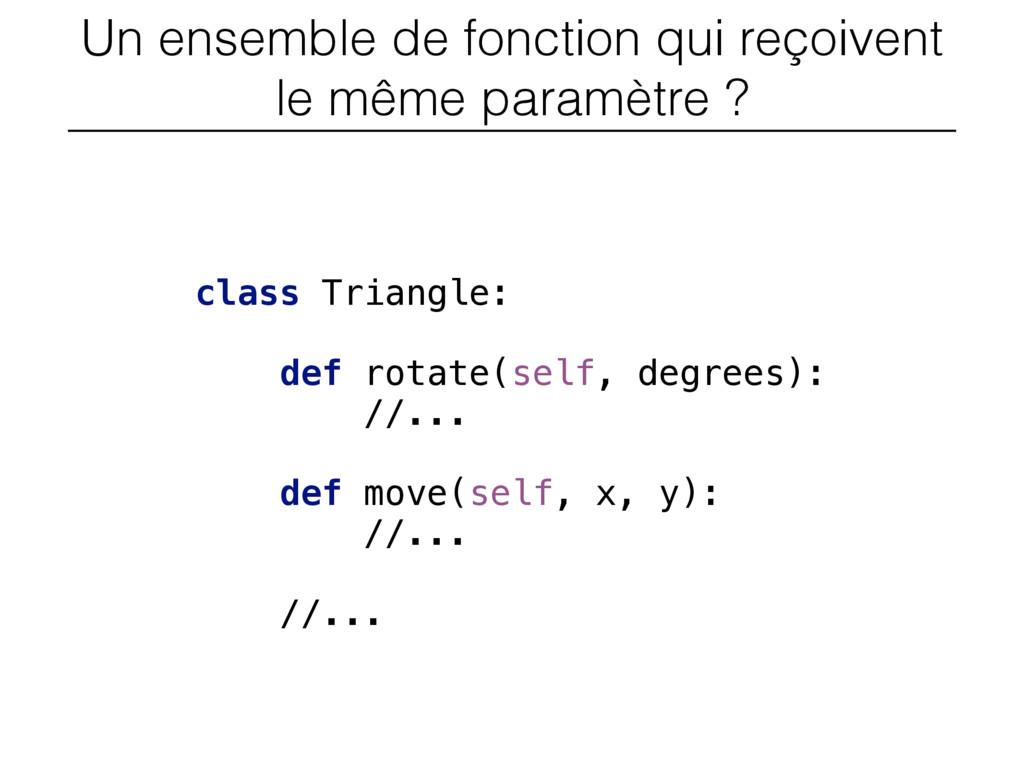 Un ensemble de fonction qui reçoivent le même p...