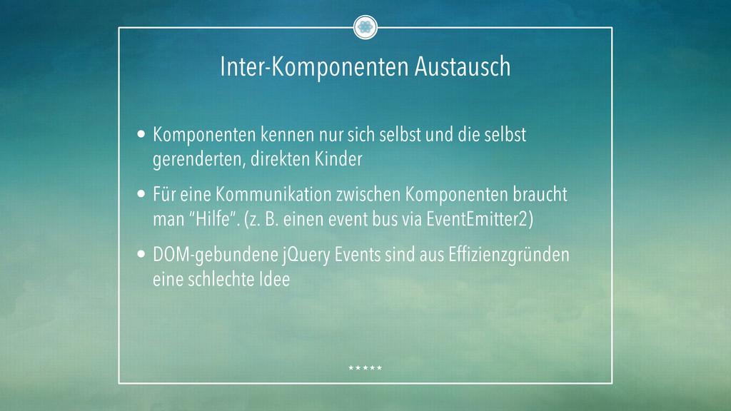 Inter-Komponenten Austausch • Komponenten kenn...