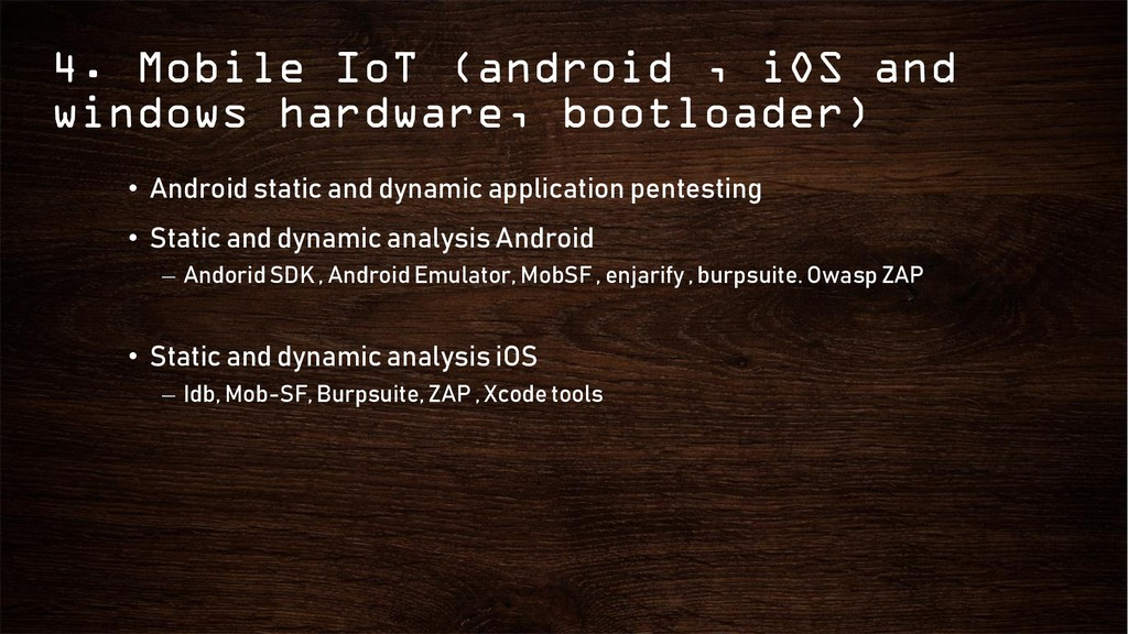 4. Mobile IoT (android , iOS and windows hardwa...