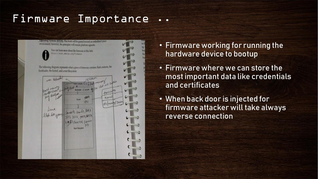 Firmware Importance .. • Firmware working for r...
