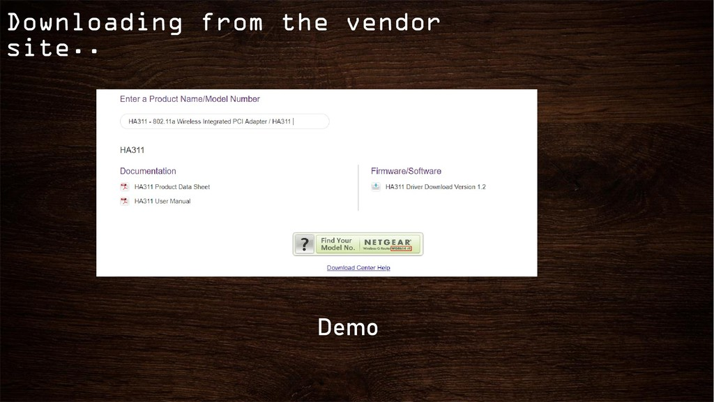 Downloading from the vendor site.. Demo