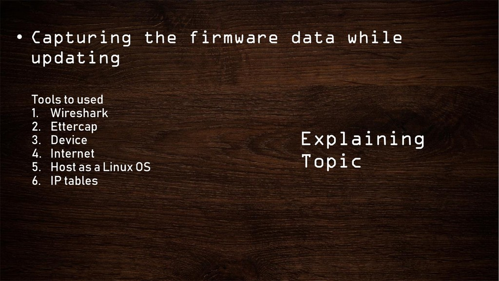 • Capturing the firmware data while updating Ex...