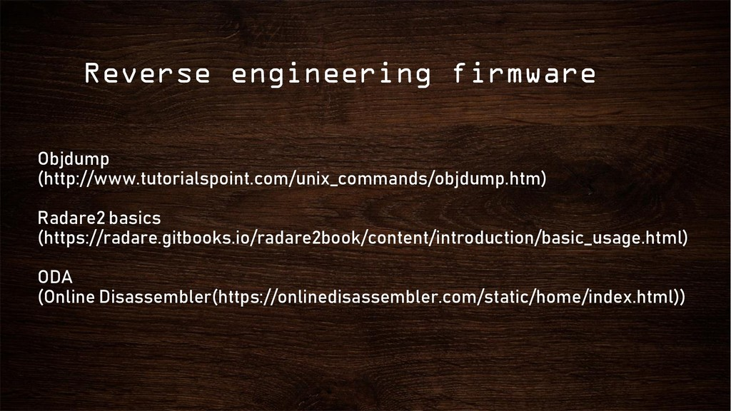 Reverse engineering firmware Objdump (http://ww...