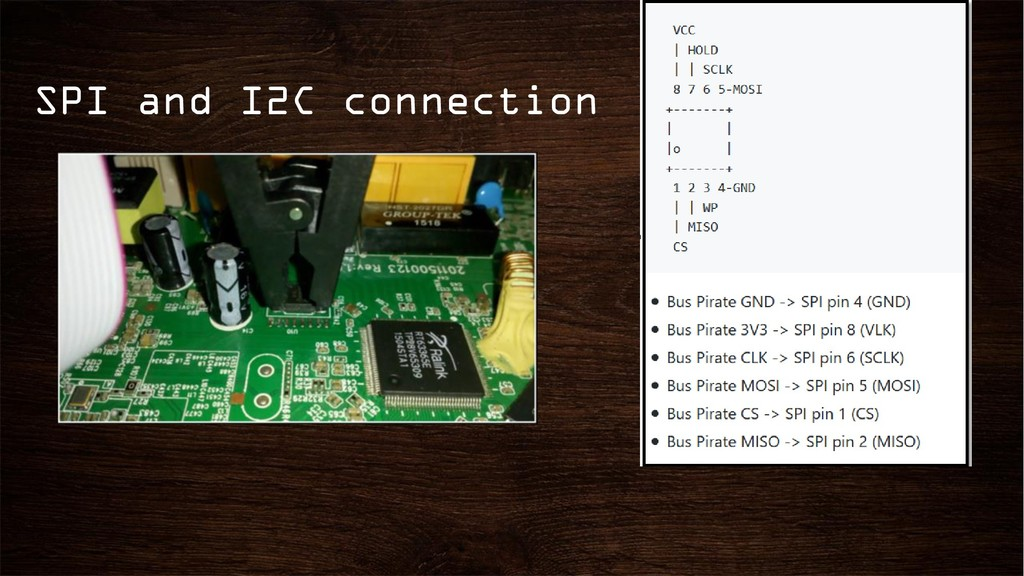 SPI and I2C connection