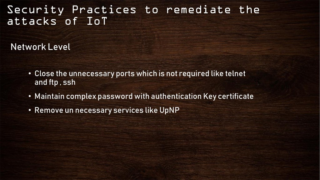 Security Practices to remediate the attacks of ...