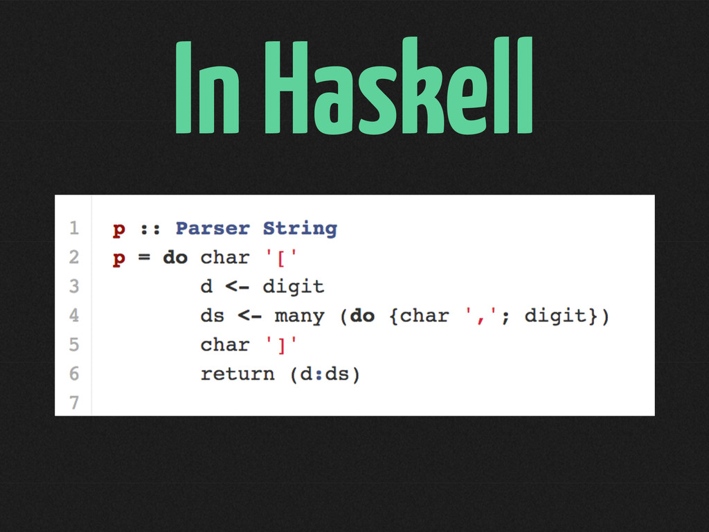 In Haskell