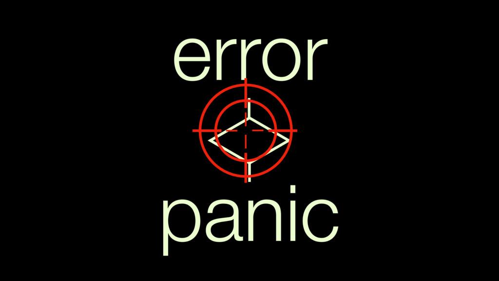panic error