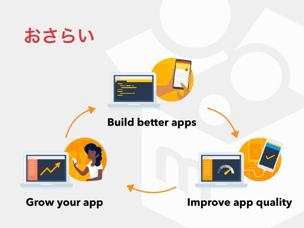 ͓͞Β͍ Build better apps Improve app quality Grow...