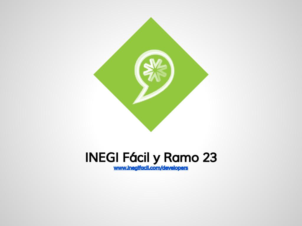 INEGI Fácil y Ramo 23 www.inegifacil.com/develo...