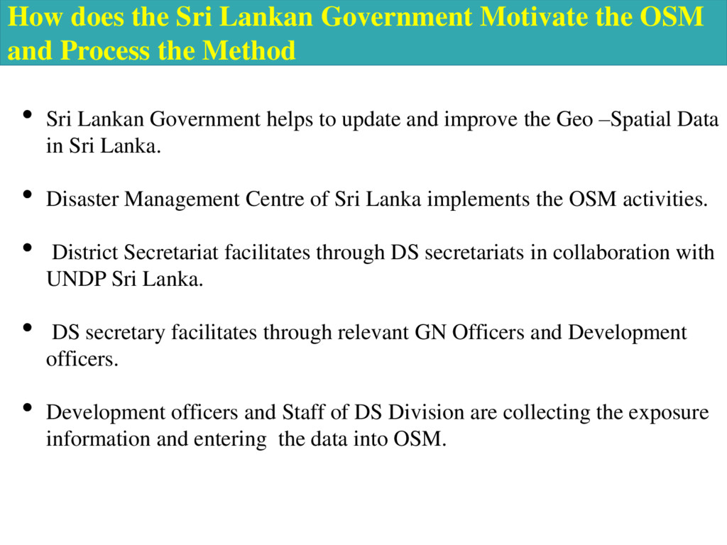 How does the Sri Lankan Government Motivate the...
