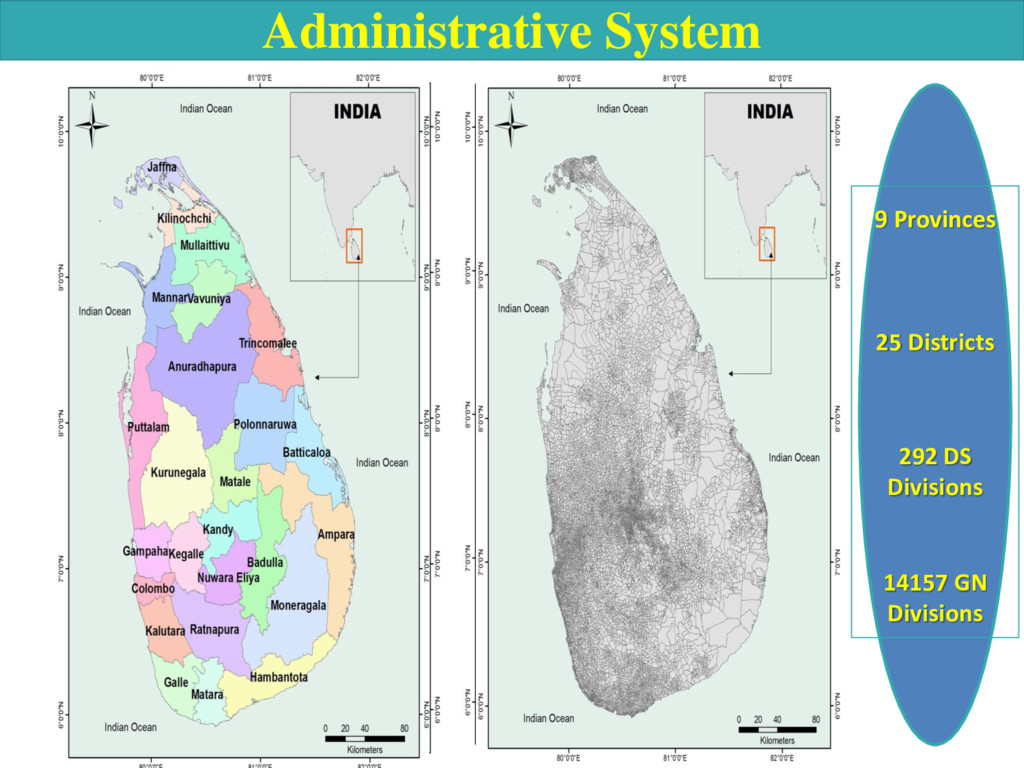 Administrative System 9 Provinces 25 Districts ...