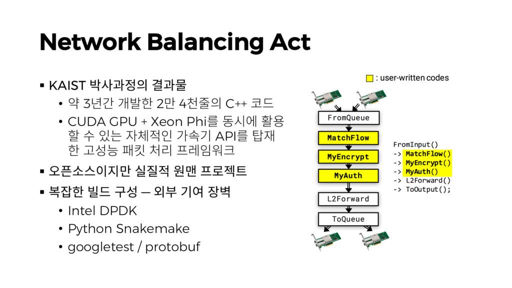 Network Balancing Act § KAIST 짣칺뫊헣픦 멾뫊줊 • 퍋 3뼒맒...