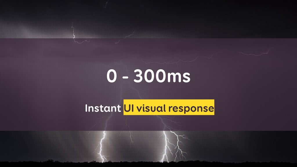 0 - 300ms Instant UI visual response