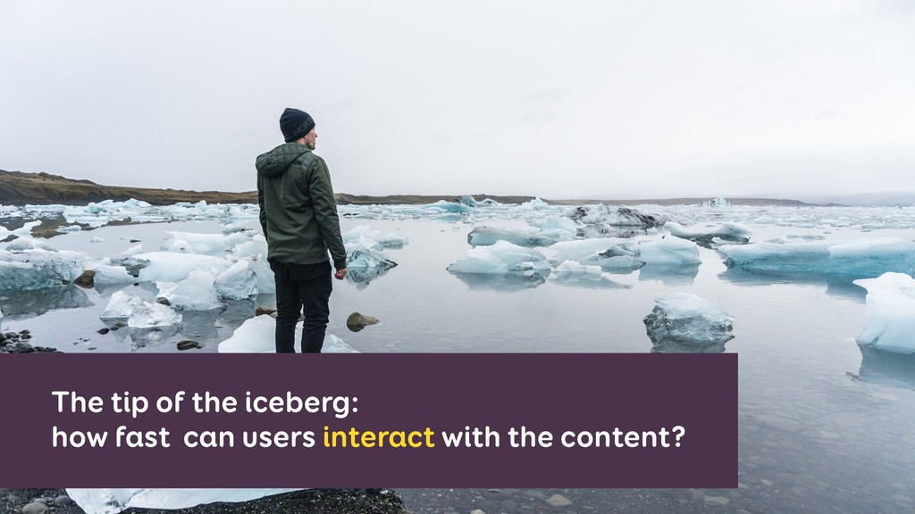 The tip of the iceberg: how fast can users inte...