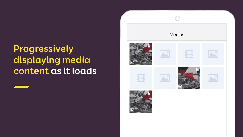 Progressively displaying media content as it lo...