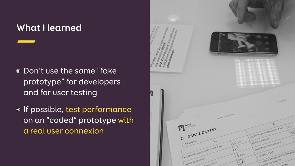 "What I learned ๏ Don't use the same ""fake proto..."