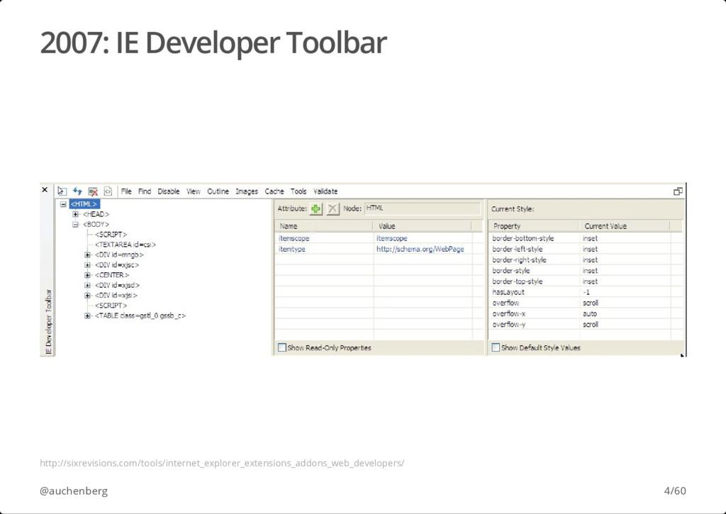 2007: IE Developer Toolbar @auchenberg http://s...
