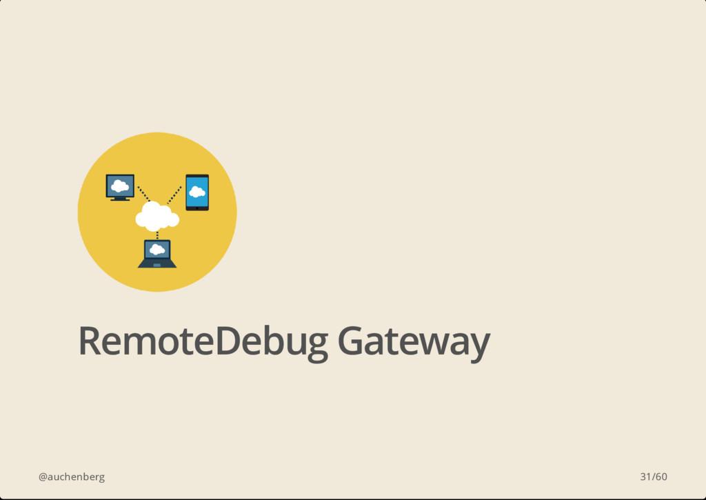 @auchenberg RemoteDebug Gateway 31/60