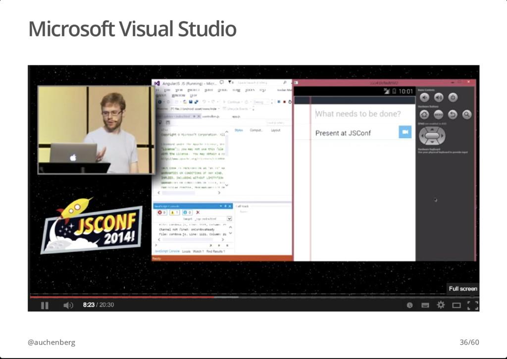 Microsoft Visual Studio @auchenberg 36/60