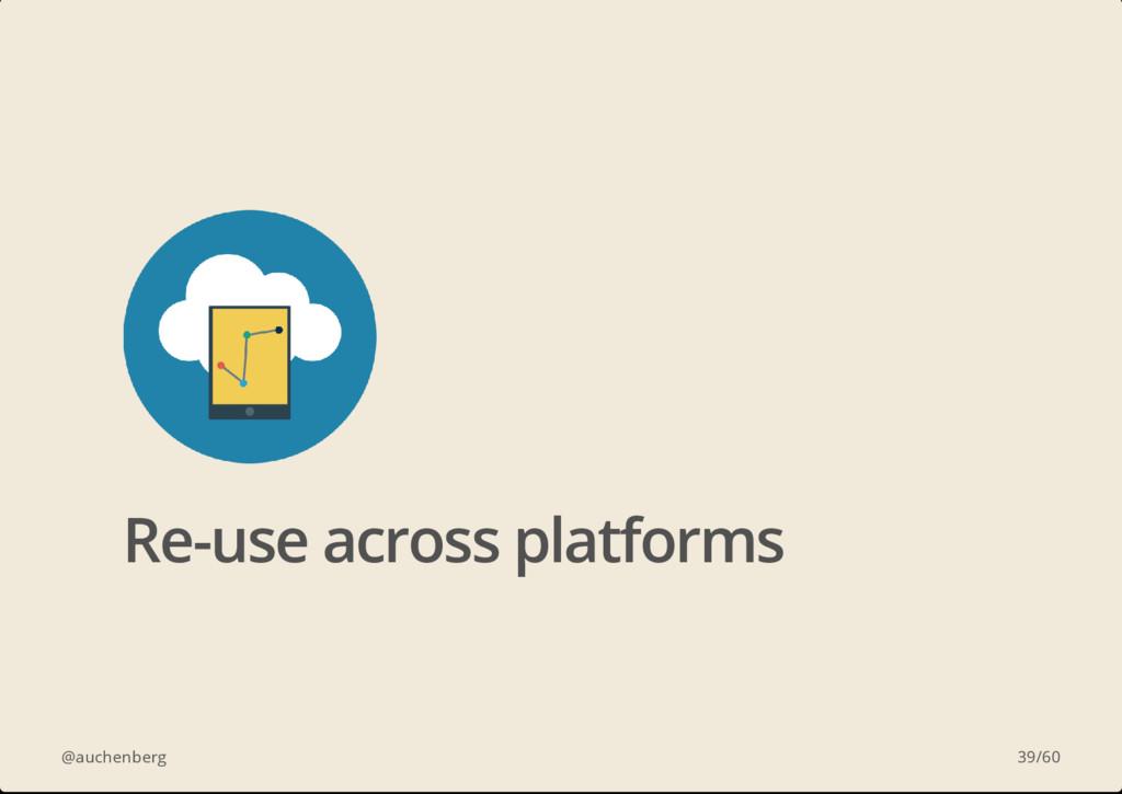 @auchenberg Re-use across platforms 39/60