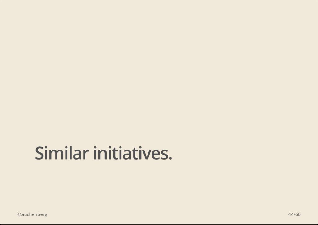 @auchenberg Similar initiatives. 44/60