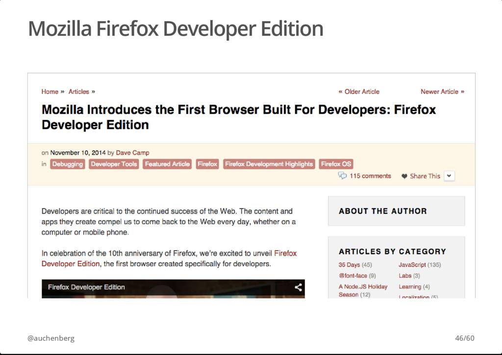 Mozilla Firefox Developer Edition @auchenberg 4...