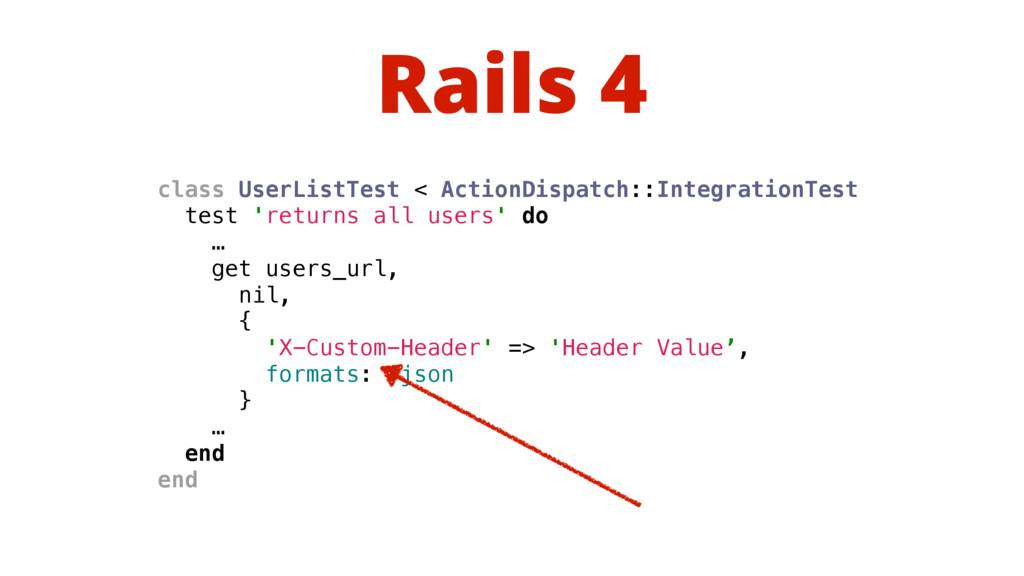 Rails 4 class UserListTest < ActionDispatch::In...