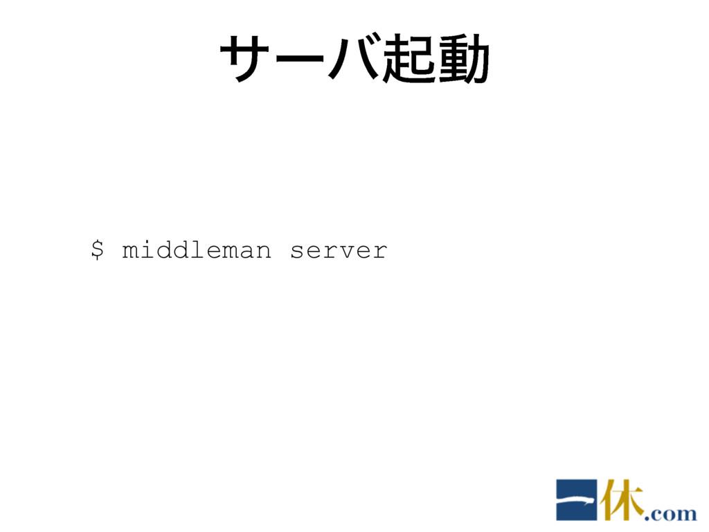 αʔόىಈ $ middleman server
