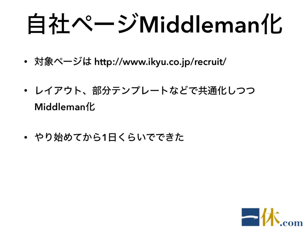 ࣗࣾϖʔδMiddlemanԽ • ରϖʔδ http://www.ikyu.co.jp/...