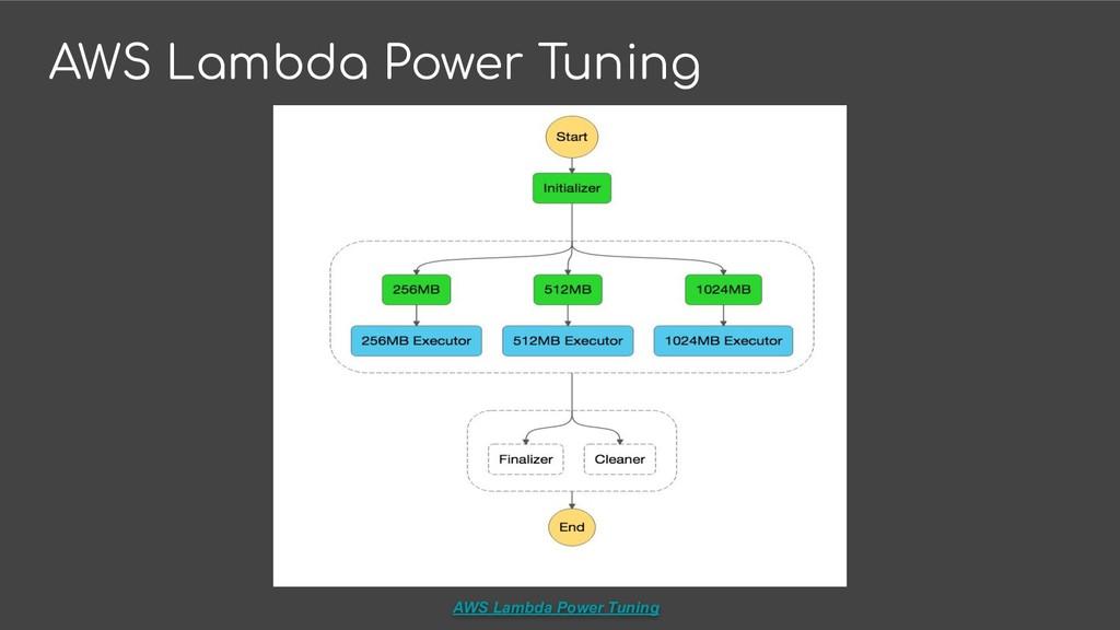 AWS Lambda Power Tuning AWS Lambda Power Tuning