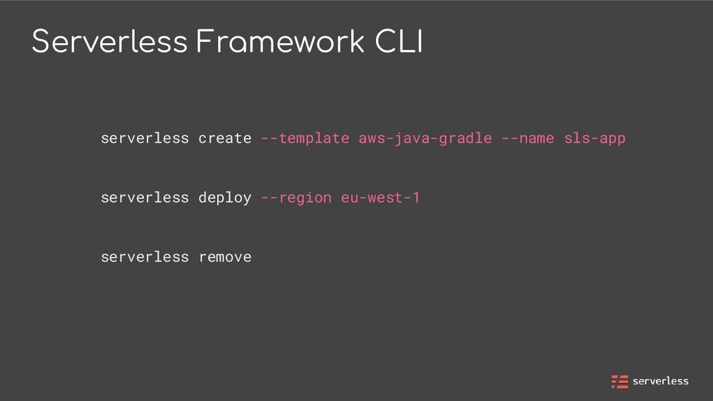 Serverless Framework CLI serverless create --te...