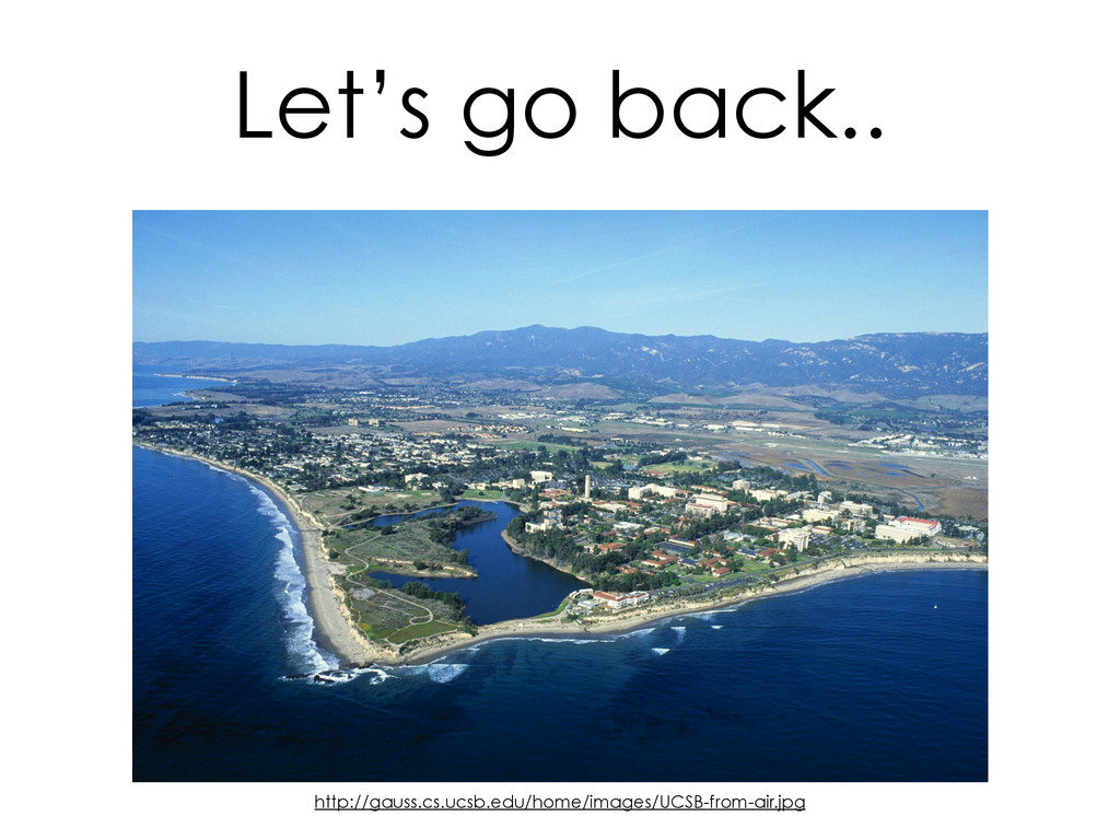Let's go back.. http://gauss.cs.ucsb.edu/home/i...