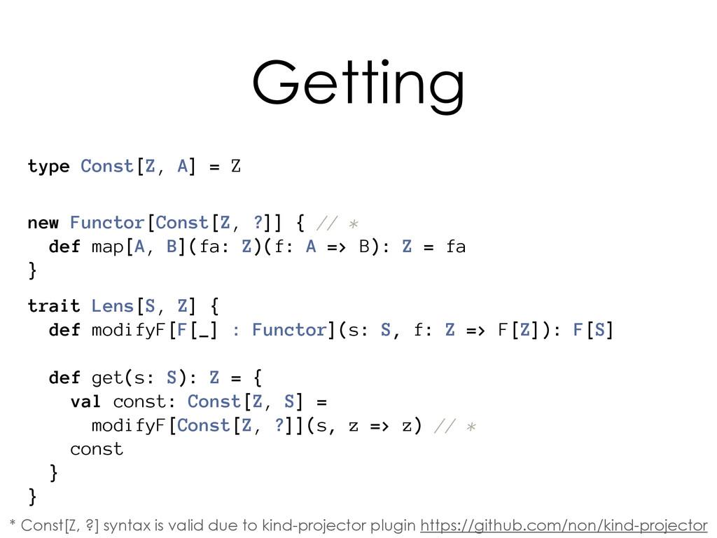 trait Lens[S, Z] { def modifyF[F[_] : Functor](...