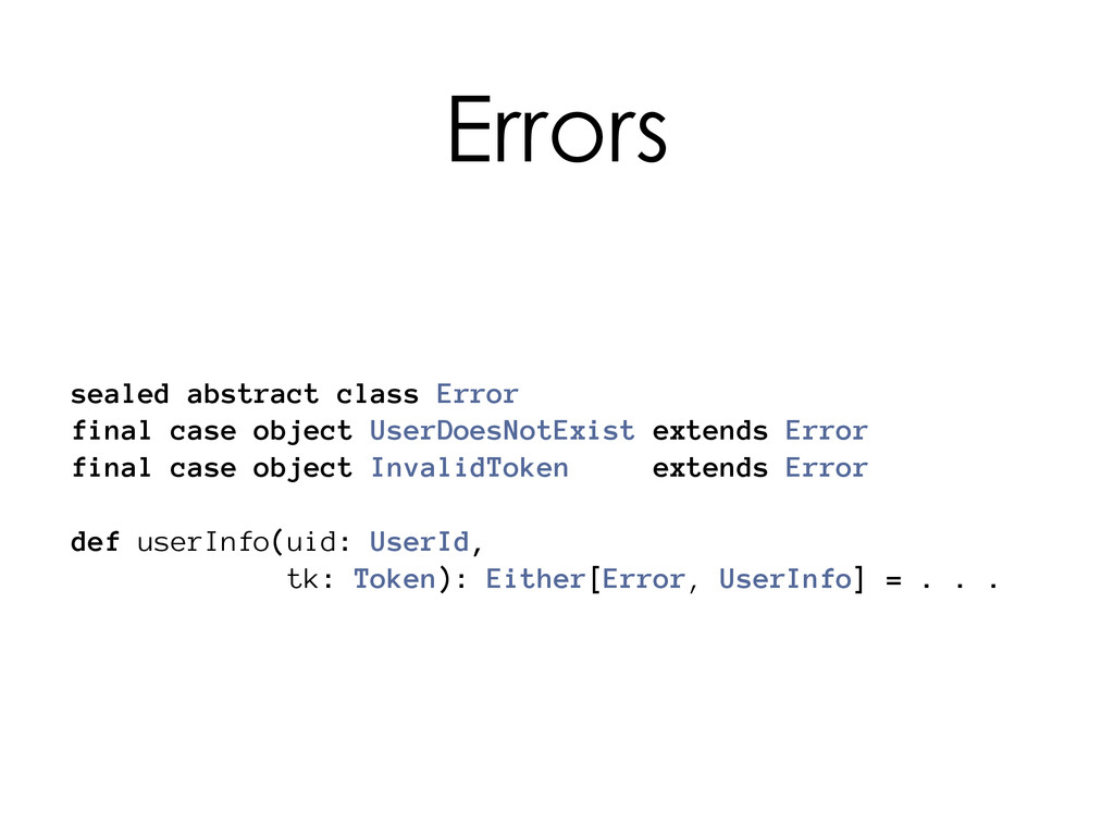 sealed abstract class Error final case object U...