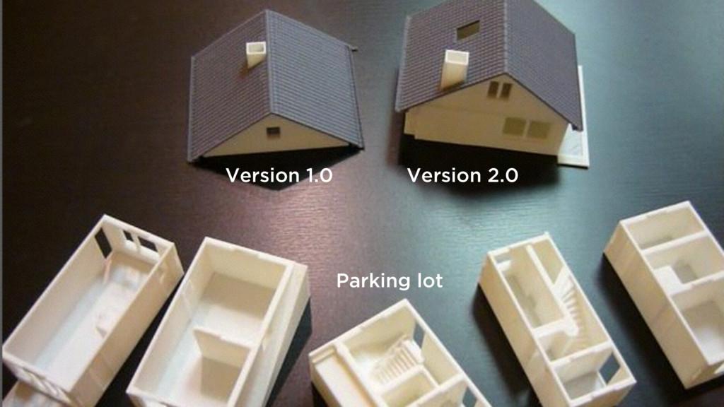 Version 2.0 Version 1.0 Parking lot