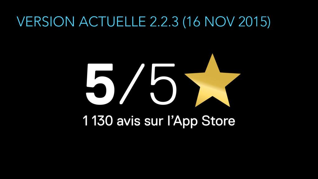 VERSION ACTUELLE 2.2.3 (16 NOV 2015) 1 130 avis...
