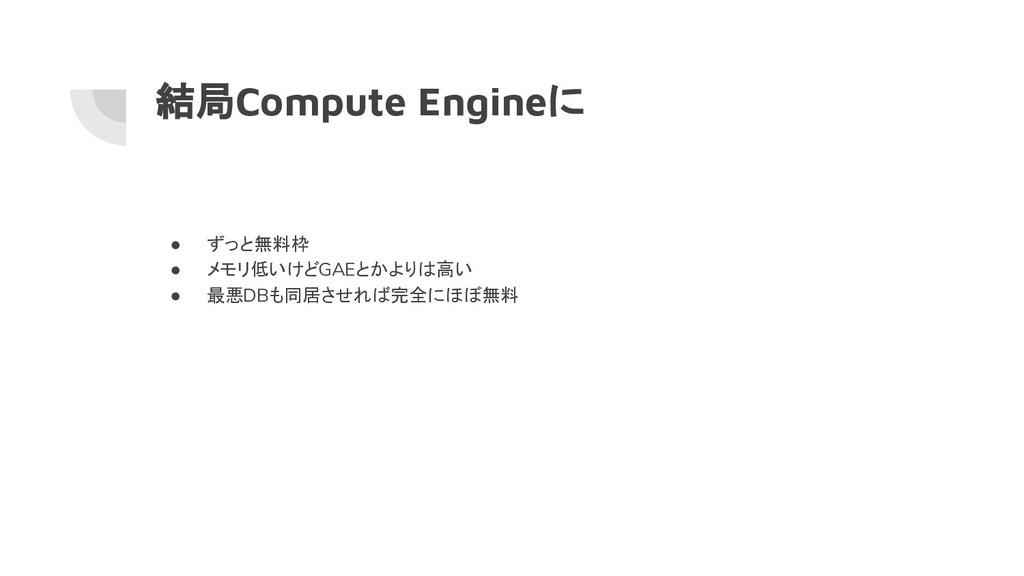 結局Compute Engineに ● ずっと無料枠 ● メモリ低いけどGAEとかよりは高い ...