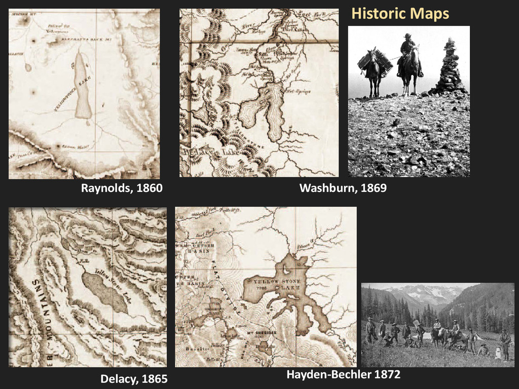 Raynolds, 1860 Washburn, 1869 Delacy, 1865 Hist...
