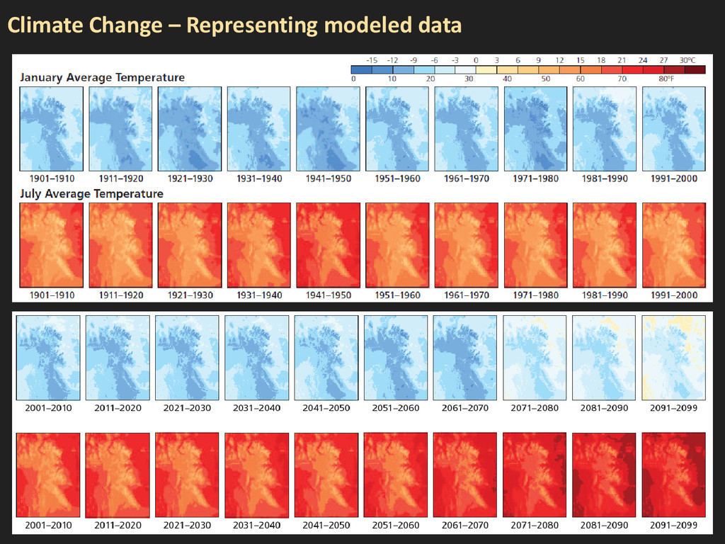 Climate Change – Representing modeled data