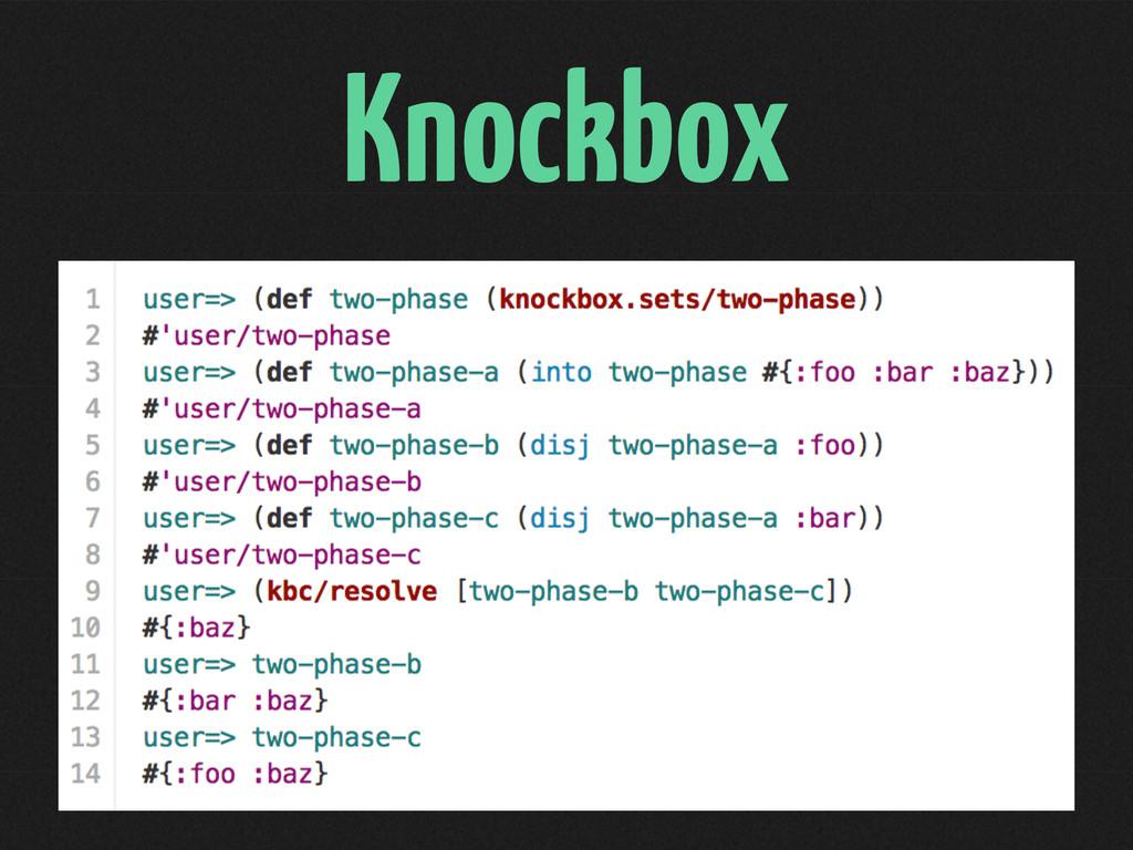 Knockbox