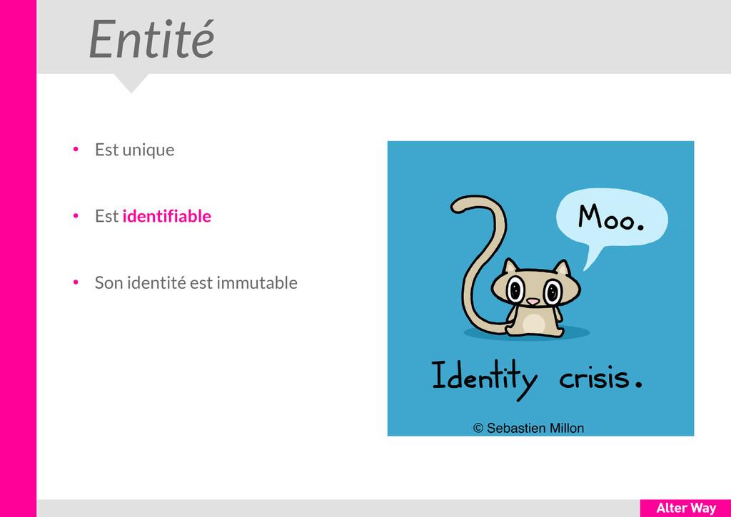 Entité ● Est unique ● Est identifiable ● Son id...