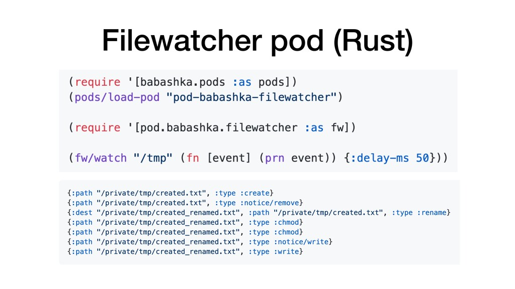 Filewatcher pod (Rust)