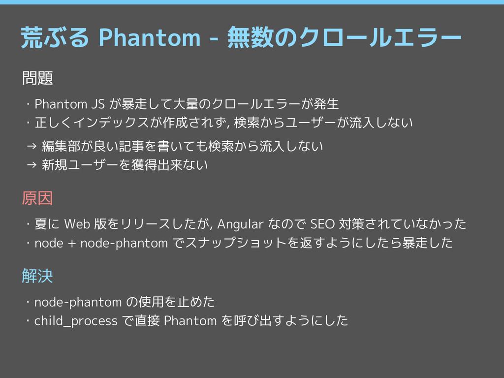 荒ぶる Phantom - 無数のクロールエラー 問題 ・Phantom JS が暴走して大量...