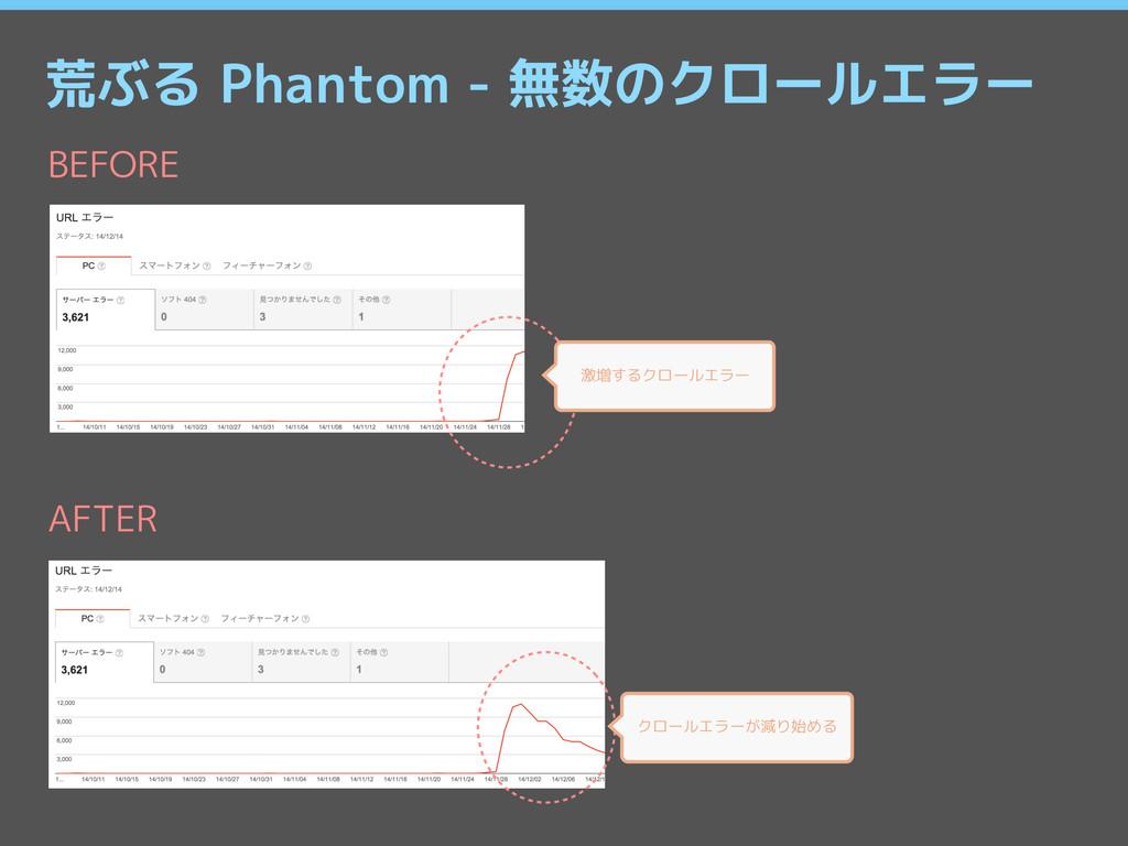 荒ぶる Phantom - 無数のクロールエラー 激増するクロールエラー BEFORE クロー...