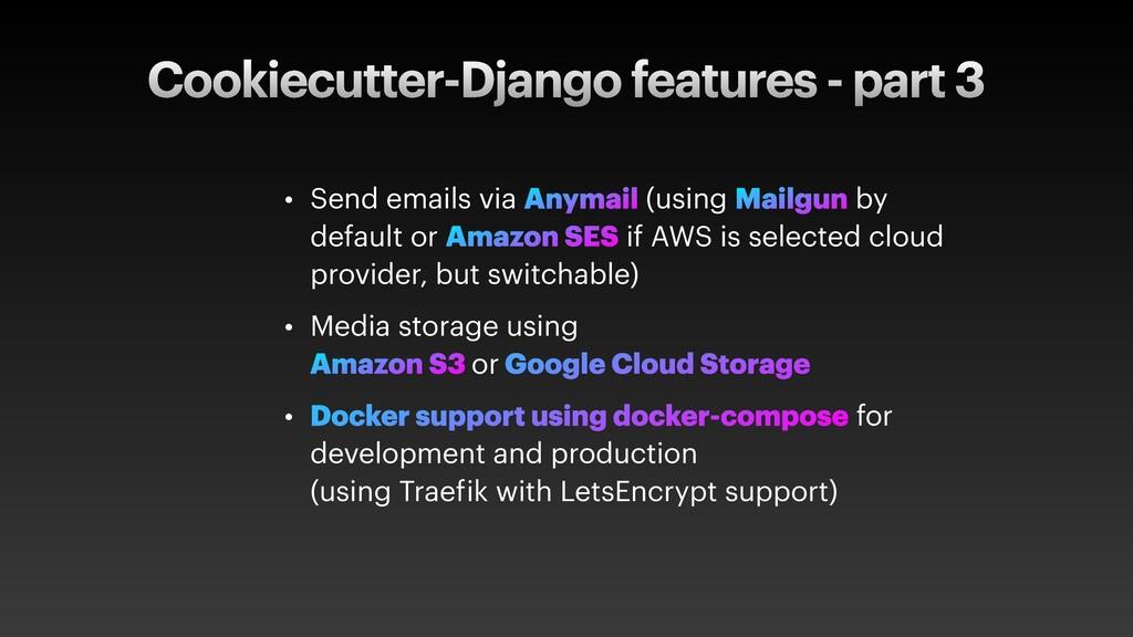 Cookiecutter-Django features - part 3 • Send em...