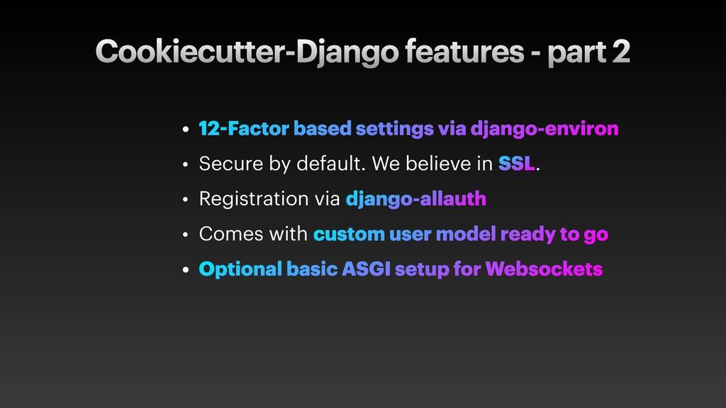 Cookiecutter-Django features - part 2 • 12-Fact...
